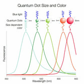 Quantum Dot Size and Colour